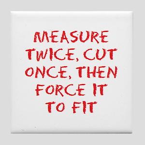 measure force Tile Coaster