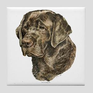 Labrador Retriever Dog Portrait Tile Coaster