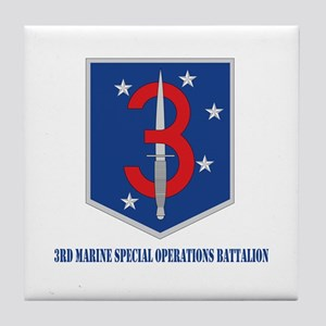3d Marine Special Operations Bn with Text Tile Coa