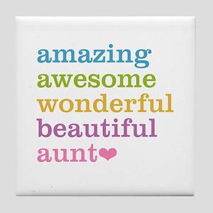Amazing Aunt Tile Coaster