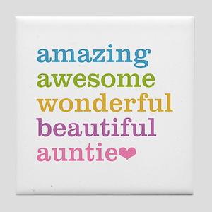 Auntie - Amazing Awesome Tile Coaster