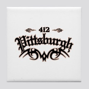 Pittsburgh 412 Tile Coaster