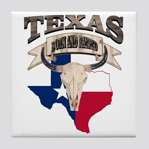 Bull Skull Texas home Tile Coaster