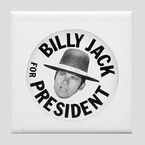 Billy Jack For President Tile Coaster