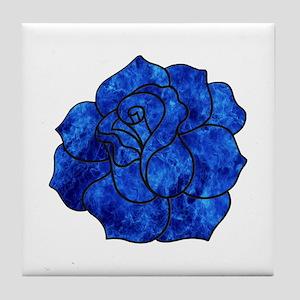 Blue Rose Tile Coaster
