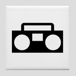 Radio Music ghettoblaster Tile Coaster
