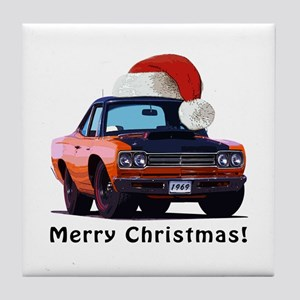 BabyAmericanMuscleCar_69_RoadR_Orange Tile Coaster
