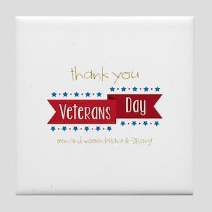 Thank You Veterans Tile Coaster