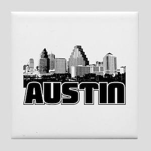 Austin Skyline Tile Coaster