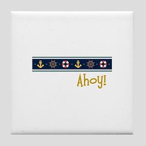 Ahoy Tile Coaster