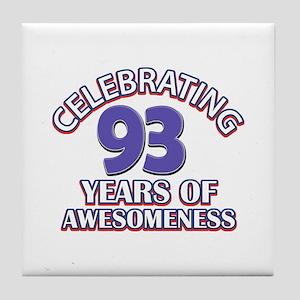 Celebrating 93 Years Tile Coaster