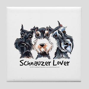 Miniature Schnauzer Lover Tile Coaster