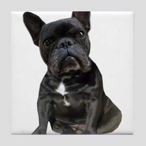 French Bulldog Puppy Portrait Tile Coaster