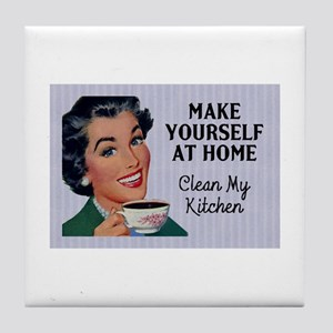 Make Yourself At Home Tile Coaster