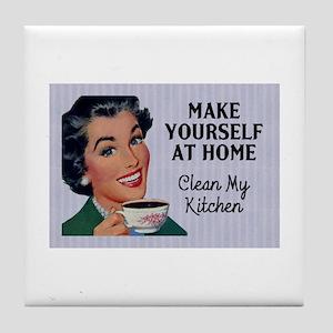 Make Yourself At Home Tile Coaster