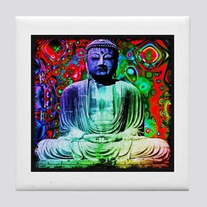 Life Tripping With Buddha Tile Coaster