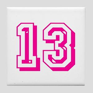 13 Pink Birthday Tile Coaster