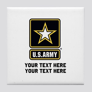 US Army Star Tile Coaster