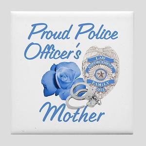 Blue Rose Police Mother Tile Coaster