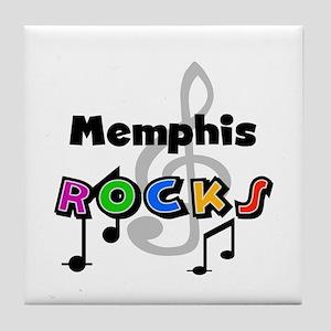 Memphis Rocks Tile Coaster