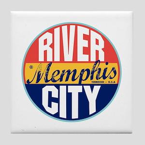 Memphis Vintage Label Tile Coaster