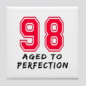 98 Year birthday designs Tile Coaster