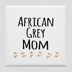 African Grey Mom Tile Coaster