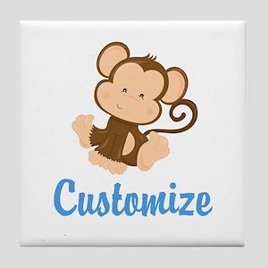 Custom Monkey Tile Coaster
