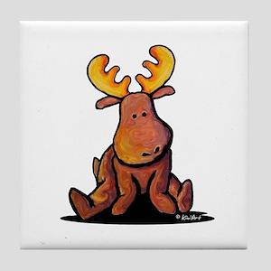 KiniArt Moose Tile Coaster