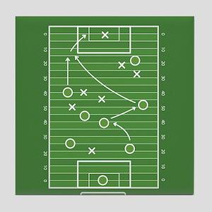 Football field Tile Coaster