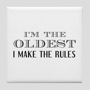 I'm The Oldest Tile Coaster