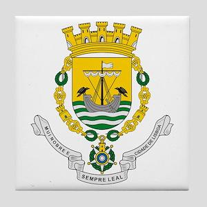 Lisbon Coat of Arms Tile Coaster