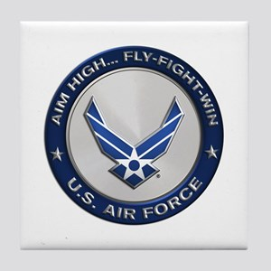USAF Motto Aim High Tile Coaster