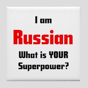 i am russian Tile Coaster