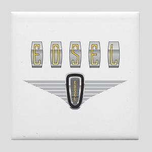 The Flying Edsel Horsecollar in Gold Tile Coaster