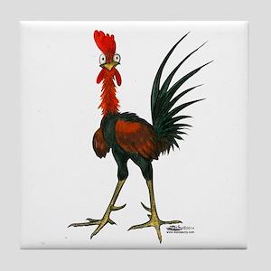 Crazy Rooster Tile Coaster