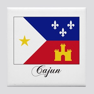 Cajun Flag Tile Coaster