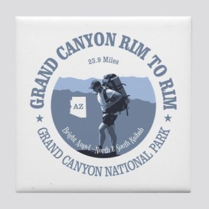 Grand Canyon Rim to Rim Tile Coaster