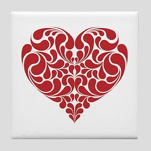 Real Heart Tile Coaster