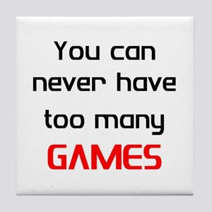 too many games Tile Coaster