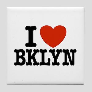 I Love Brooklyn Tile Coaster
