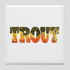 Brook TROUT Tile Coaster