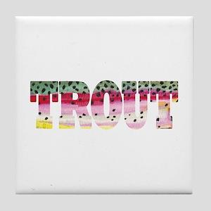 Rainbow TROUT Tile Coaster