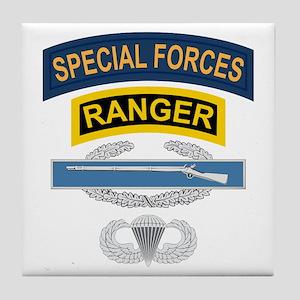 SF Ranger CIB Airborne Tile Coaster