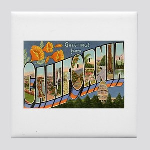 California CA Tile Coaster