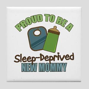 Sleep-Deprived Mom Tile Coaster