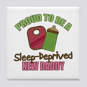 Sleep-Deprived Dad Tile Coaster