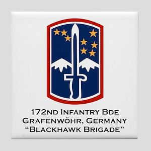 172nd Blackhawk Bde Tile Coaster