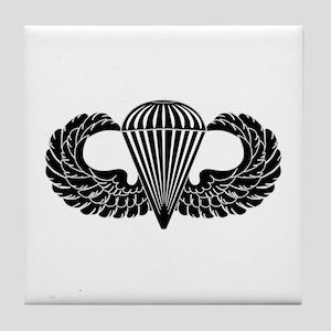 Parachutist -- B-W Tile Coaster