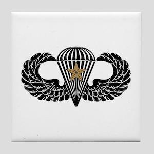 Combat Parachutist 1st -- B-W Tile Coaster